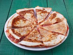 Spice up your breakfast on-the-go with this warm and crispy trail quesadilla filled with pepperoni and cheese.