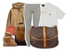 """""""2/4/16"""" by xtaymaxlovesxmisfitx ❤ liked on Polyvore featuring Polo Ralph Lauren, H&M, UGG Australia, TNA and Louis Vuitton"""
