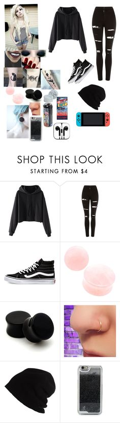 """The type of person I want to be"" by prettylittleraven ❤ liked on Polyvore featuring OPI, Topshop, Vans, SCHA, Nintendo and LMNT"