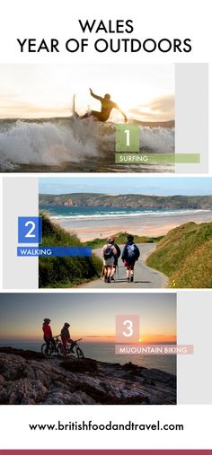 Wales Year of Outdoors - British Food and Travel Best Of Wales, Wales Beach, Pembrokeshire Coast, British Travel, Brecon Beacons, British Countryside, Snowdonia, Forest Park, Historical Sites