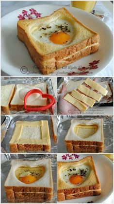 Cheese Toast, Egg Toast, Toast Pizza, Cheese Bread, Mac Cheese, Cheddar Cheese, Breakfast Bake, Breakfast Recipes, Bacon