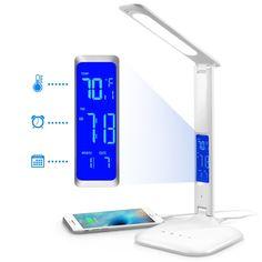 Innoka USB Touch LED Desk Lamp Energy Saving Home Desk Lamp with Dimmer/ Calendar/ Temperature Display/ Alarm