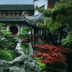 """The first picture is of 环秀山庄 (Huanxiu Mountain Villa or """"Mountain Villa with Embracing Beauty"""") in Suzhou. Not sure about the last three.china"""