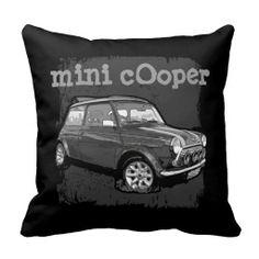 automobile car mini cooper pillows
