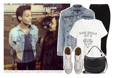 """meeting fans with louis in supermarket at midnight"" by stylistdirectioner ❤ liked on Polyvore featuring moda, Topshop, Converse, Mulberry, women's clothing, women's fashion, women, female, woman e misses"
