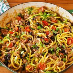 Burrito Zoodles Bring Their A-Game Zoodle Recipes, Fish Recipes, Whole Food Recipes, Healthy Recipes, Spiralizer Recipes, Keto Recipes, Recipies, Mexican Recipes, Copycat Recipes
