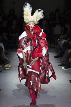 ErmaGurd I am in LUB with all the red on Comme des Garcon's SP-SU '15 runway!!!
