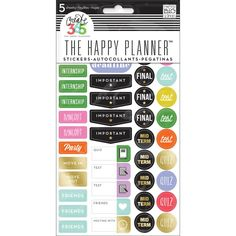 Me & My Big Ideas Create 365 Happy Planner lets you put together a book in which you can keep track of all the things that are going on in your life. Sticker School College- Over 240 stickers, designs