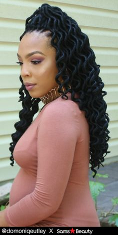 Amour Synthetic Kanekalon Crochet Braids Natty Goddess Dreadlocks Deep Wavy - Super lightweight, Easy installation, Hot water activated (superior results with hot water), Flame retardant, 24 Strands ✨ Who Does Not Have This Pretty Lovely Trendy Hot Item, YET?????? Don't worry girls! You can still get it @ samsbeauty.com #braids #protectivestyles #blackgirlmagic #blackgirlhair #hairinspiration #hairstyle #motd #deepwavy #dreadlocs #dreadlocks #crochetbraids #crochethair #kanekalonhair