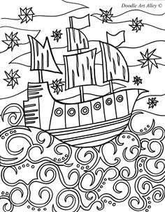 pirate coloring page/ This would be a cute little boy's blanket