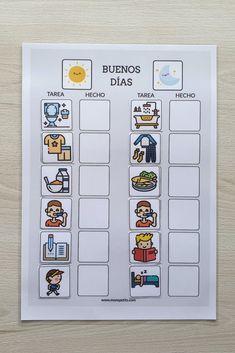 Plantillas de rutinas para niños para descargar e imprimir gratis #YoMeQuedoEnCasa | Mons Petits