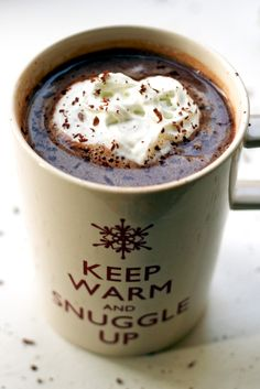 Salted caramel vodka hot chocolate!  This looks divine! <3