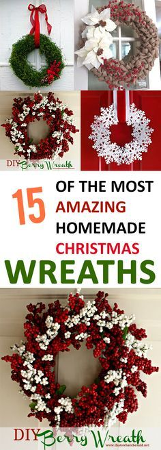 Save money by making your own wreath this holiday season using these 15 beautiful ideas!
