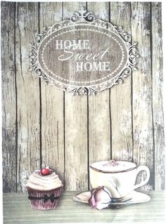 Rice Decoupage Paper / Decoupage Sheets / Scrapbooking / Home / Coffee Time