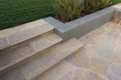 Russet Sandstone Select Stairs and Flagstone Paving