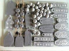 Foto: Zelfdrogende klei van de action, leuke labels van gemaakt en kralen. . Geplaatst door lidi op Welke.nl