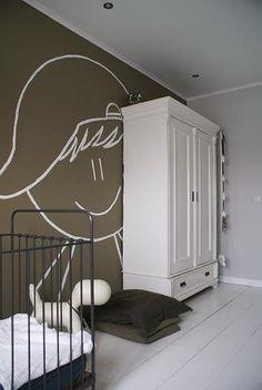 Stoere muurschildering #babykamer #jongenskamer | Babykamer