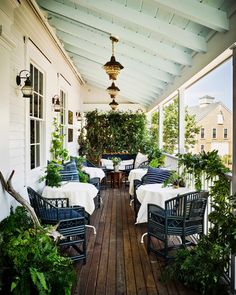 What's better than a breezy summer evening on your patio? All that's missing is an ice cold sweet tea! Photo: Douglas Friedman. England Houses, New England Homes, Nantucket Style Homes, Nantucket Beach, Coastal Style, Seaside, Outdoor Spaces, Outdoor Living, Flowers