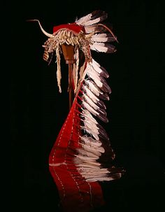 """trailer bonnet from """"captive Sioux"""" NMNH"""