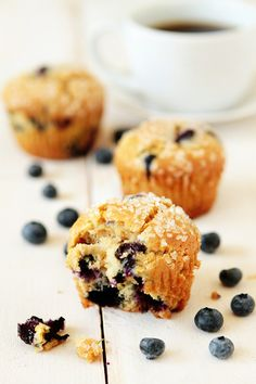 Blueberry-Lime Muffins Recipe.   tasty sour cream muffin bursting with fresh blueberries and the tart zing of fresh lime zest. They're perfect for breakfast, lunch or simply a midday snack.