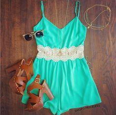 [ $21.00 ] Fashion light green Jumpsuits 5419NE
