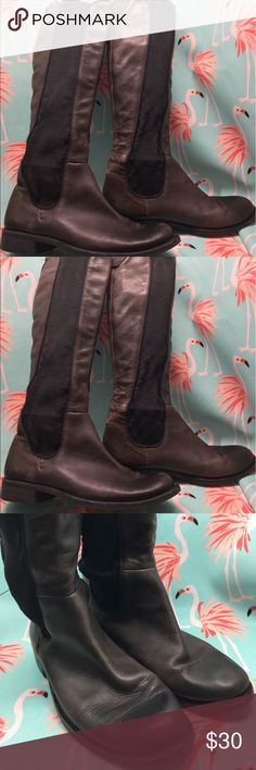 "Vince Camuto Kent Dark Brown Mid Calf Boots Sz 10B Vince Camuto Kent Brown Leather Mid Calf Boots Sz 10B • Good Pre-Owned Condition • slight scuffs shown in pictures. Sold As Is. Heel Height: 1"" Boot Shaft Height: 15.5"" Leather Upper.                Please see pictures for detail and feel free to contact me with any questions you may have about this listing! Thanks! Vince Camuto Shoes Over the Knee Boots"
