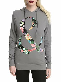 Of Mice & Men Floral Ampersand Girls Pullover Hoodie | Hot Topic