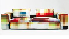 ¿Qué tal un sofá pixelado para vuestro salón?