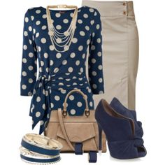 Like blouse and pencil skirt. Don't like shoes, bag, or accessory.
