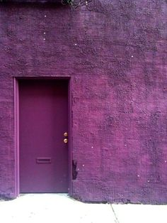 purple door and buliding