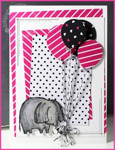 by Mo: Love You Lots (host), Pop of Pink dsp, Balloon Bouquet punch - all from Stampin' Up!