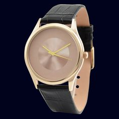 Minimalist Watch in Rose Gold by SandMwatch on Etsy, $35.00