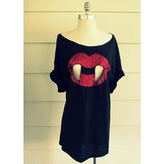 Vampire Shirt ❤ liked on Polyvore