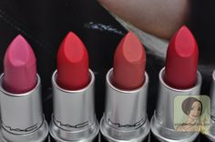 #MAC Retro Matte Lipsticks in Steady Going, Relentlessly Red, Runway Hit, All Fired Up