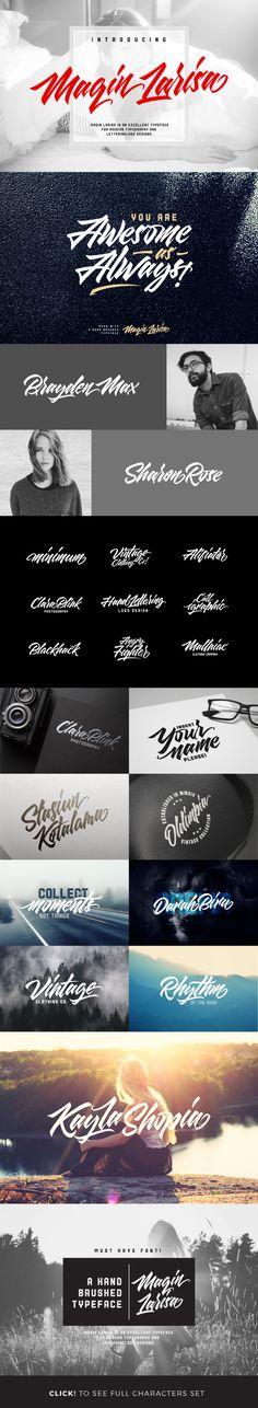 Maqin Larisa — TrueType TTF #marker #logotype • Download ➝ https://graphicriver.net/item/maqin-larisa-3-font/18538494?ref=pxcr