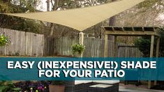 Is your patio or deck simply too hot to enjoy this time of year? Listen to learn about an easy, inexpensive way to create shade for an outdoor space. #patio #deck #shade Deck Shade, Home Improvement Show, Backyard Paradise, Shades, Patio, Create, Hot, Easy, Outdoor Decor