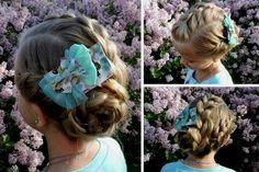 three+braids+into+low+bun+girls+hairstyle