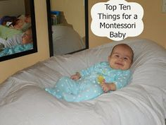 The Montessori on a Budget blog: Top Ten Things for a Montessori Baby 0-5 Months