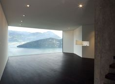 Modern Concrete Home Overlooking the Swiss Alps, Wohhhh!!