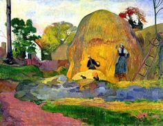 """""""Golden Harvest""""  --  1898  --  Paul Gauguin  --  French  --  Oil on canvas  --  Musée d'Orsay, Paris"""