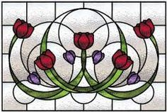 Image result for tulip in vase pattern stained glass