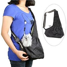 Inviktus Black Oxford Cloth Sling Pet Dog Cat Carrier Bag... https://smile.amazon.com/dp/B00FECC93U/ref=cm_sw_r_pi_dp_x_9TgpybXG1MCWZ  ~~ Medium, black, please.