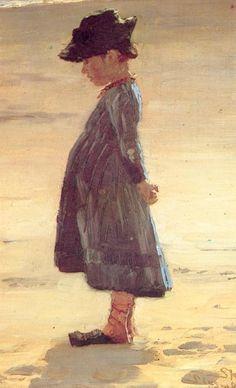 Girl on the Beach - Peder Severin Krøyer, 1884