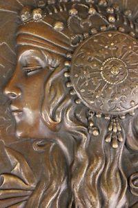 art nouveau egypt | ... French-Bronze-Statue-Bas-Relief-Sculpture-Figure-Figurine-Art-Nouveau