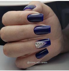 Best Nails Fake Design Art Ideas 56 Ideas nails nailsfake nailsdesign nailsart nailsideas is part of Gel nails Art Rose - Gel nails Art Rose Blue And Silver Nails, Blue Gel Nails, Navy Nails, Cute Acrylic Nails, Stylish Nails, Trendy Nails, Nagellack Design, Gel Nail Designs, Navy Blue Nail Designs