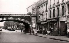 La rue de Flandre près du pont de la petite ceinture, vers 1955 (Paris 19ème)