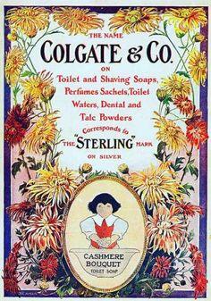 colgate advertising for Cashmere Bouquet soap