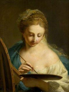 Joven pintando (Young woman painting) Johann Heinrich Tischbein 1751-1829