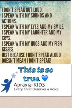 Repinned by Apraxia Kids Learning. Come join us on Facebook at Apraxia Kids Learning Activities and Support- Parent Led Group.