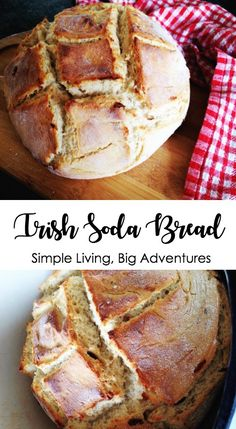 Delicious Irish Soda Bread that is slightly sweet and oh so easy to make. Easy Bread Recipes, Backyard Farming, Soda Bread, Fresh Bread, Simple Living, Banana Bread, Breads, Irish, Posts